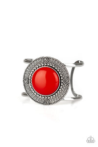 Paparazzi Tribal Pop - Red Bead - Cuff Bracelet - Lauren's Bling $5.00 Paparazzi Jewelry Boutique