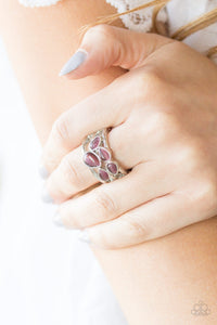Paparazzi Dreamy Glow - Purple Moonstone - Silver Bands Ring - Lauren's Bling $5.00 Paparazzi Jewelry Boutique