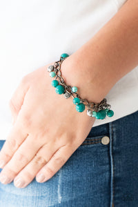 Paparazzi Hold My Drink - Green - Pearly Beads - Bold Gunmetal Chain - Bracelet - Lauren's Bling $5.00 Paparazzi Jewelry Boutique
