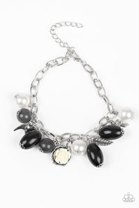 Paparazzi Love Doves - Black Beading - Silver Bird and Feather Charms - Bracelet - Lauren's Bling $5.00 Paparazzi Jewelry Boutique