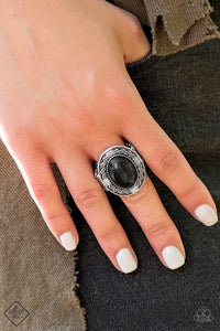 Paparazzi Tribe Trend - Black - Stone Silver Ring - Fashion Fix December 2018 - Lauren's Bling $5.00 Paparazzi Jewelry Boutique