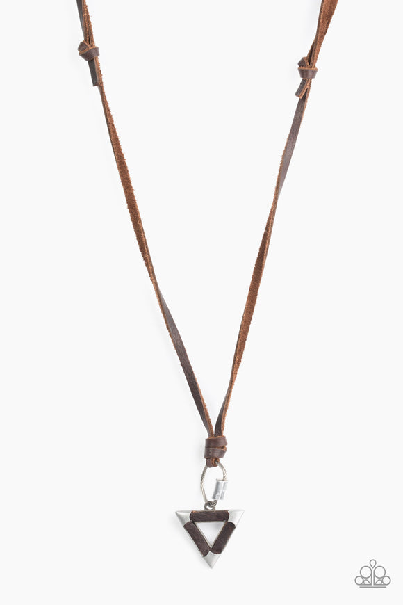 Paparazzi Canyon Conqueror - Brown - Triangular Pendant - Urban Necklace - Lauren's Bling $5.00 Paparazzi Jewelry Boutique