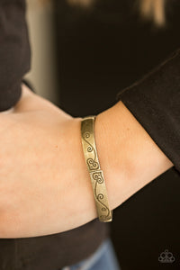 Paparazzi VINE With Me - Brass - Filigree Stretchy Band Bracelet - Lauren's Bling $5.00 Paparazzi Jewelry Boutique