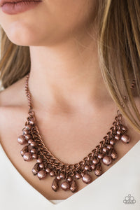 Paparazzi Imperial Idol - Copper - Beads and Faceted Teardrops - Necklace & Earrings - Lauren's Bling $5.00 Paparazzi Jewelry Boutique