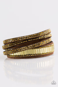 Paparazzi Just In SHOWTIME - Brass - Double wrap Rhinestone Bracelet - Lauren's Bling $5.00 Paparazzi Jewelry Boutique