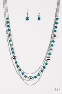 High Standards - Blue Necklace - Lauren's Bling $5.00 Paparazzi Jewelry Boutique
