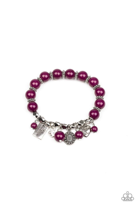 Paparazzi One True Love - Purple - Silver Charms,