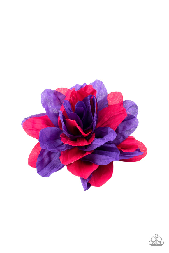 Paparazzi Rainbow Gardens - Purple - Pink Petals - Hair Clip