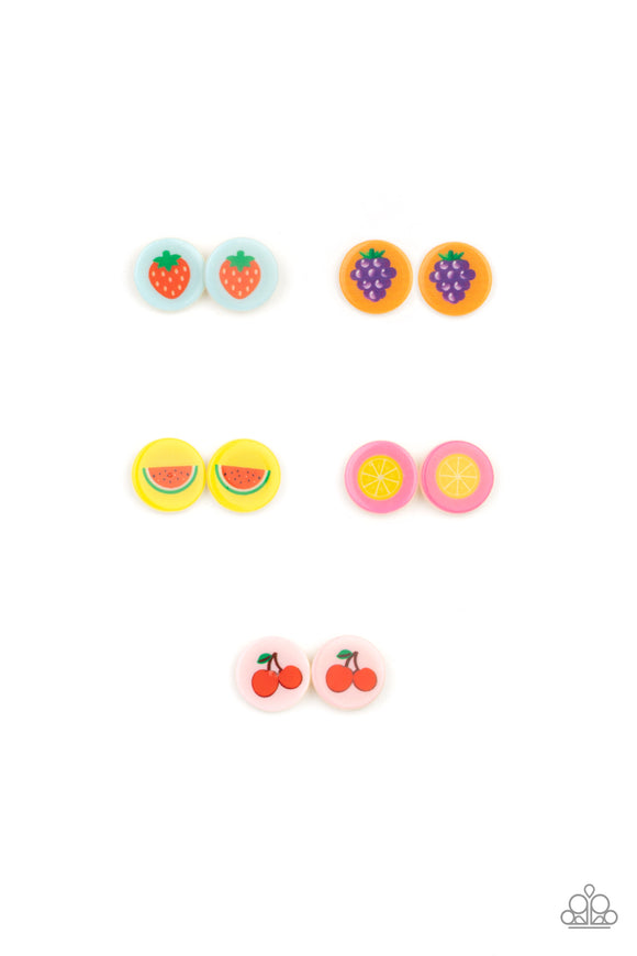 Paparazzi Starlet Shimmer Earrings - 10 - Fruity Post Frames - Strawberries, Cherries, Watermelons, Grapes & Lemons - Lauren's Bling $5.00 Paparazzi Jewelry Boutique