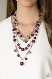 Paparazzi The Partygoer - Purple Plum Beads - Necklace & Earrings - Lauren's Bling $5.00 Paparazzi Jewelry Boutique
