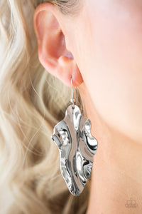 Paparazzi Fall Into Fall - Silver - Leaf Earrings - Lauren's Bling $5.00 Paparazzi Jewelry Boutique