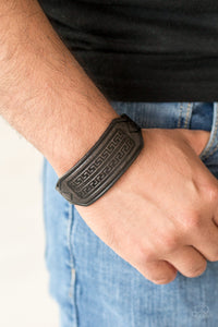 Paparazzi Hidden Ruins - Black - Leather - Tribal Inspired - Snap Bracelet - Lauren's Bling $5.00 Paparazzi Jewelry Boutique
