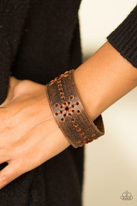 Paparazzi Nautical Nature - Brown - Distressed Leather Band - Snap Bracelet - Lauren's Bling $5.00 Paparazzi Jewelry Boutique