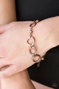 Paparazzi Poised and Polished - Copper - Hoops and Beads - Adjustable Bracelet - Lauren's Bling $5.00 Paparazzi Jewelry Boutique