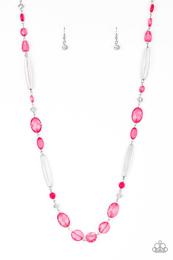 Paparazzi Quite Quintessence - Pink Necklace and matching Earrings - Lauren's Bling $5.00 Paparazzi Jewelry Boutique