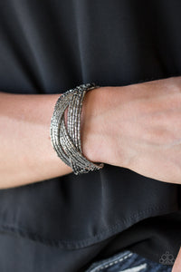 Paparazzi Shooting Stars - Gunmetal - Seed Beads - Bracelet! - Lauren's Bling $5.00 Paparazzi Jewelry Boutique