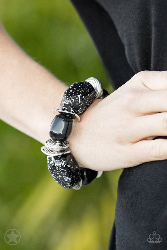 Paparazzi Glaze of Glory - Black Bracelet - Blockbuster Exclusive! - Lauren's Bling $5.00 Paparazzi Jewelry Boutique