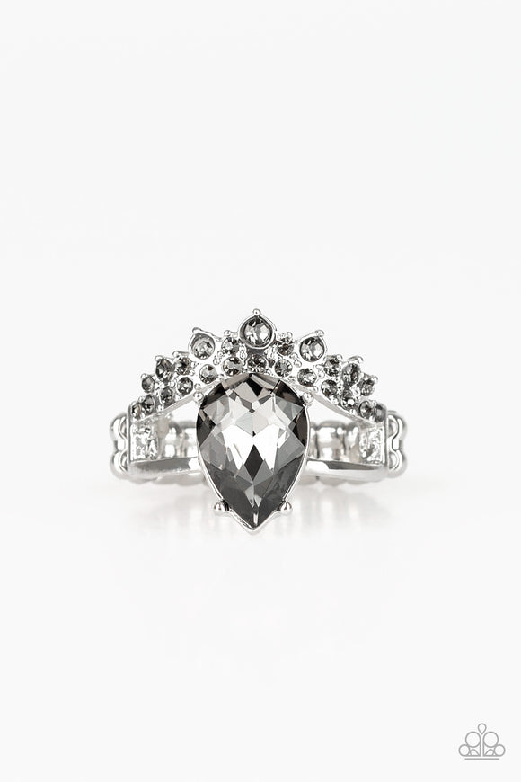 PRE-ORDER - Paparazzi If The Crown Fits - Silver - Ring - Lauren's Bling $5.00 Paparazzi Jewelry Boutique