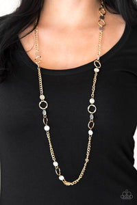 Paparazzi Stylishly Steampunk - Gold Necklace and matching Earrings - Lauren's Bling $5.00 Paparazzi Jewelry Boutique