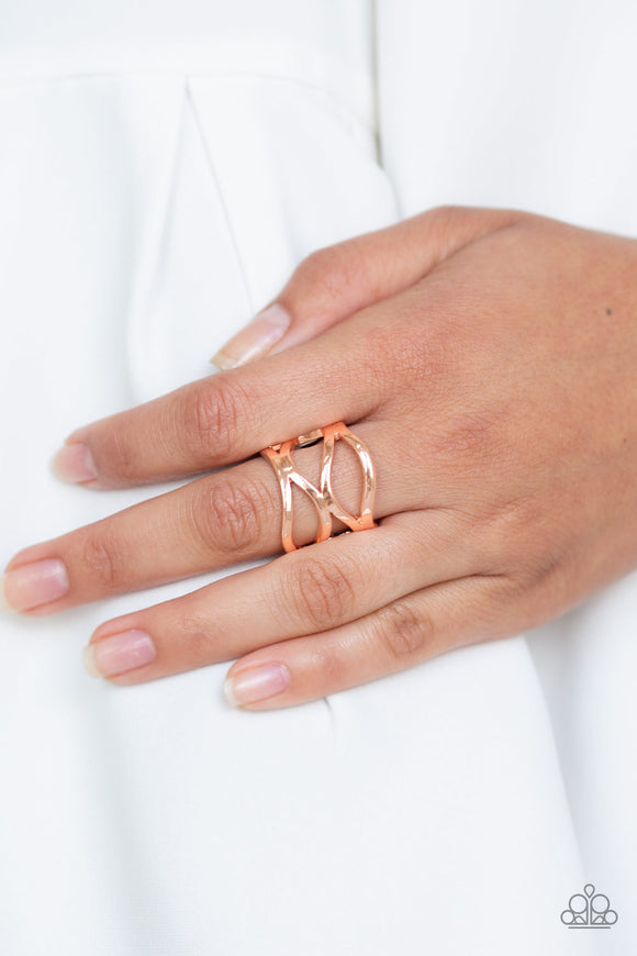 Paparazzi All Over The Place - Copper - Ring