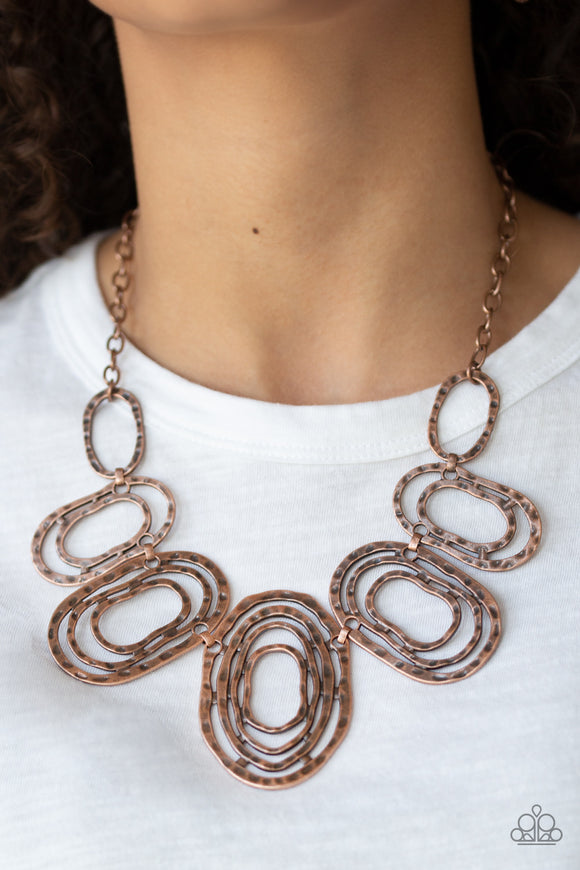 Paparazzi Empress Impressions - Copper - Hammered Rings - Necklace & Earrings - Lauren's Bling $5.00 Paparazzi Jewelry Boutique
