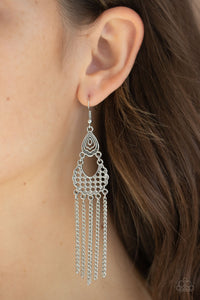 Paparazzi Insane Chain - Silver - Filigree Silver - Earrings - Lauren's Bling $5.00 Paparazzi Jewelry Boutique