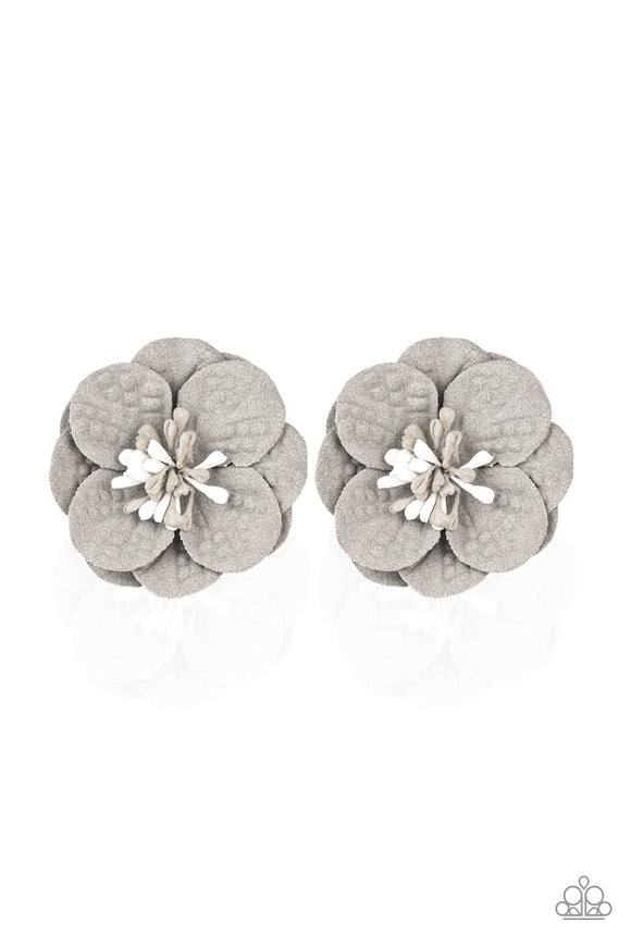 Paparazzi Serene In Sweet Pea - Silver - Hair Clips - Lauren's Bling $5.00 Paparazzi Jewelry Boutique