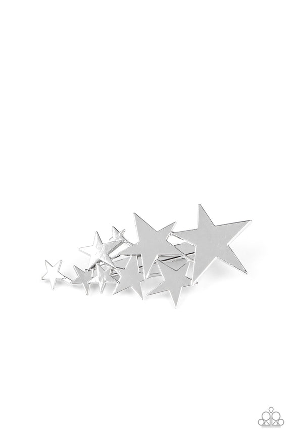 Paparazzi She STAR-ted It! - Silver - Hair Clip - Lauren's Bling $5.00 Paparazzi Jewelry Boutique