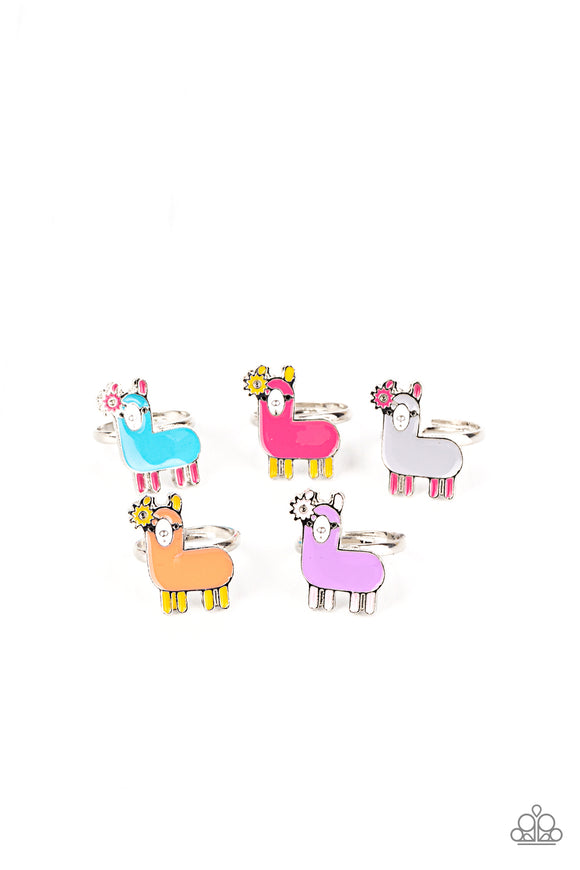 Paparazzi Starlet Shimmer Rings - 10 - Llama's! Blue, Pink, Purple, Gray, Orange & Yellow - Lauren's Bling $5.00 Paparazzi Jewelry Boutique
