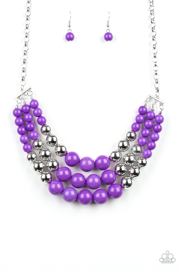 Paparazzi Dream Pop - Purple - Necklace - Life of the Party Exclusive April 2019