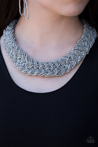 Paparazzi Mesmerizingly Mesopotamia - Silver - Seed Bead Necklace and matching Earrings - Lauren's Bling $5.00 Paparazzi Jewelry Boutique