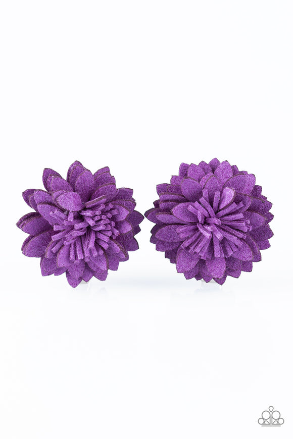 Paparazzi Posh and Posy - Purple Hair Clips - 2 - Lauren's Bling $5.00 Paparazzi Jewelry Boutique
