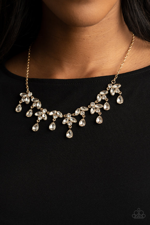 Paparazzi Vintage Royale - Necklace & Earrings - Life of the Party Exclusive March 2021