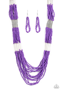 Paparazzi Let It BEAD - Purple - Seed Beads - Necklace & Earrings - Lauren's Bling $5.00 Paparazzi Jewelry Boutique