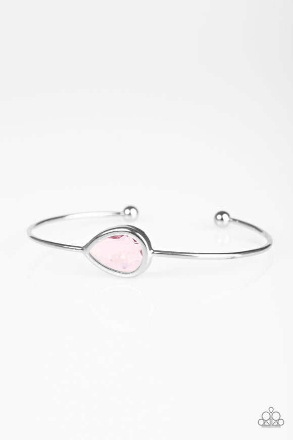 Paparazzi Make A Spectacle - Pink Gem - Silver Cuff Bracelet - Lauren's Bling $5.00 Paparazzi Jewelry Boutique