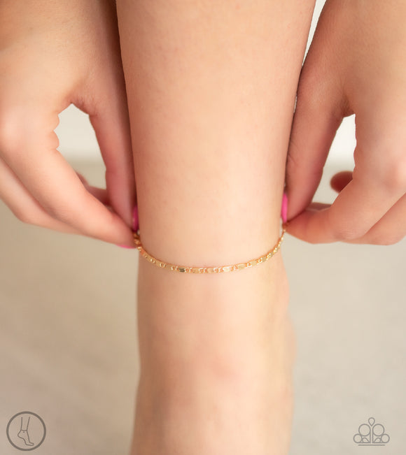 Paparazzi Sun-Kissed Radiance - Gold - Ankle Bracelet - Anklet