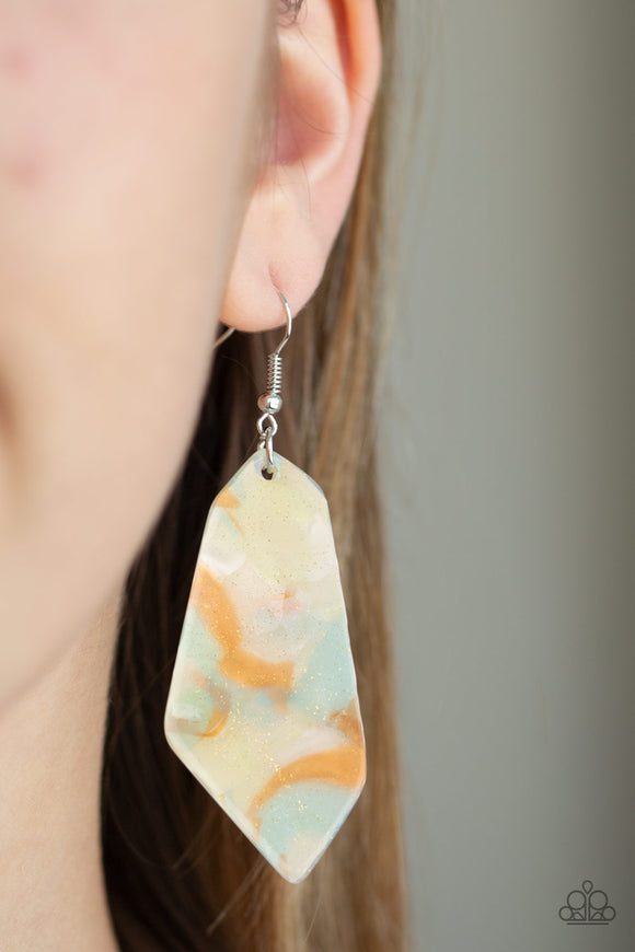 Paparazzi Walking On WATERCOLORS - Multi Light - Watercolor Acrylic - Earrings - Lauren's Bling $5.00 Paparazzi Jewelry Boutique