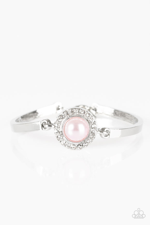 Paparazzi Glamour Icon - Pink Pearl - White Rhinestone - Bracelet - Lauren's Bling $5.00 Paparazzi Jewelry Boutique