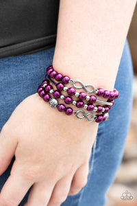 Paparazzi Limitless Luxury - Purple Pearls - Infinity Bracelet - Lauren's Bling $5.00 Paparazzi Jewelry Boutique