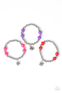 Paparazzi Starlet Shimmer Girls Bracelets - 10 - Silver Rose - Pink, Purple, Red & Black - Lauren's Bling $5.00 Paparazzi Jewelry Boutique
