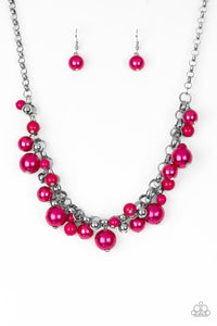 Paparazzi The Upstater - Pink Pearls - Silver Beads - Necklace and matching Earrings - Lauren's Bling $5.00 Paparazzi Jewelry Boutique