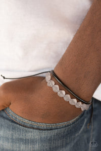 Paparazzi Treasure Trail - Silver - Leather Cording - Sliding Knot Bracelet - Lauren's Bling $5.00 Paparazzi Jewelry Boutique