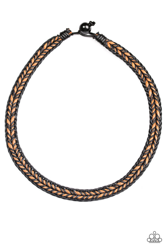 Paparazzi Range Explorer - Brown Urban Necklace - Lauren's Bling $5.00 Paparazzi Jewelry Boutique