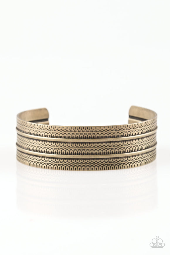 Paparazzi Absolute Amazon - Brass - Antiqued Cuff Bracelet - Lauren's Bling $5.00 Paparazzi Jewelry Boutique