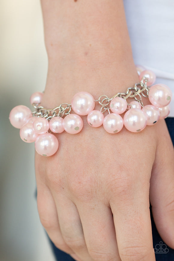Paparazzi Girls in Pearls - Pink Pearls - Silver Chain Bracelet - Lauren's Bling $5.00 Paparazzi Jewelry Boutique