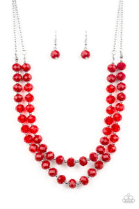 Paparazzi Glitter Gratitude - Red Crystal Beads - Necklace and matching Earrings - Lauren's Bling $5.00 Paparazzi Jewelry Boutique