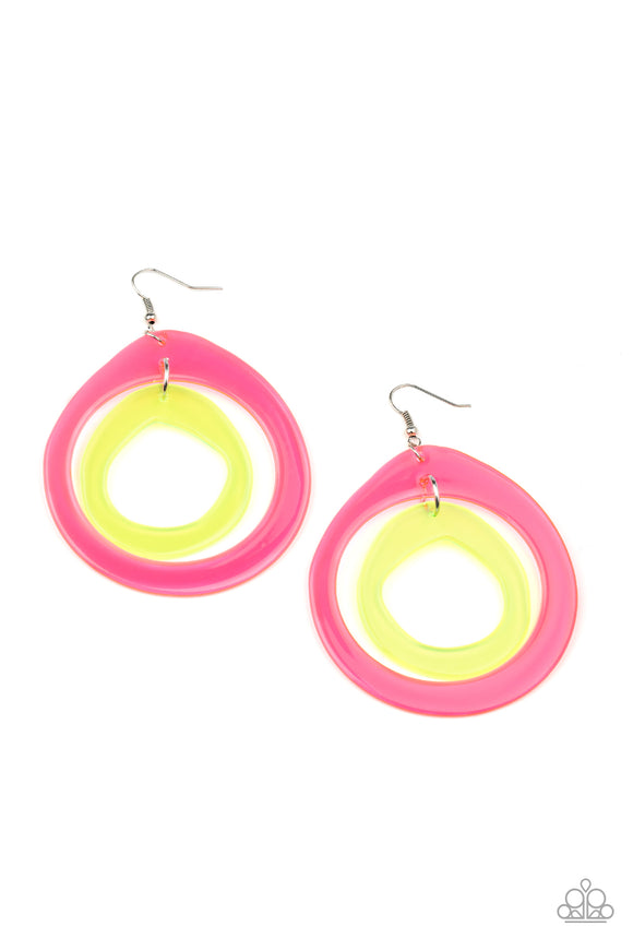Paparazzi Show Your True NEONS - Multi - Earrings - Lauren's Bling $5.00 Paparazzi Jewelry Boutique