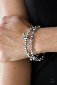 Paparazzi Sink or Shimmer - Silver - Set of 2 Bracelets - Lauren's Bling $5.00 Paparazzi Jewelry Boutique