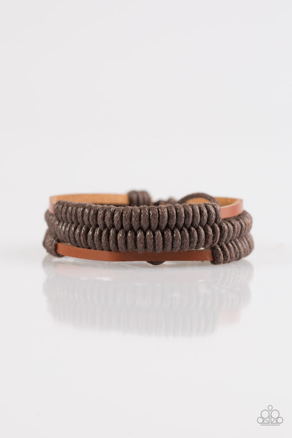 Paparazzi Trail Rage - Brown - Leather Urban Bracelet