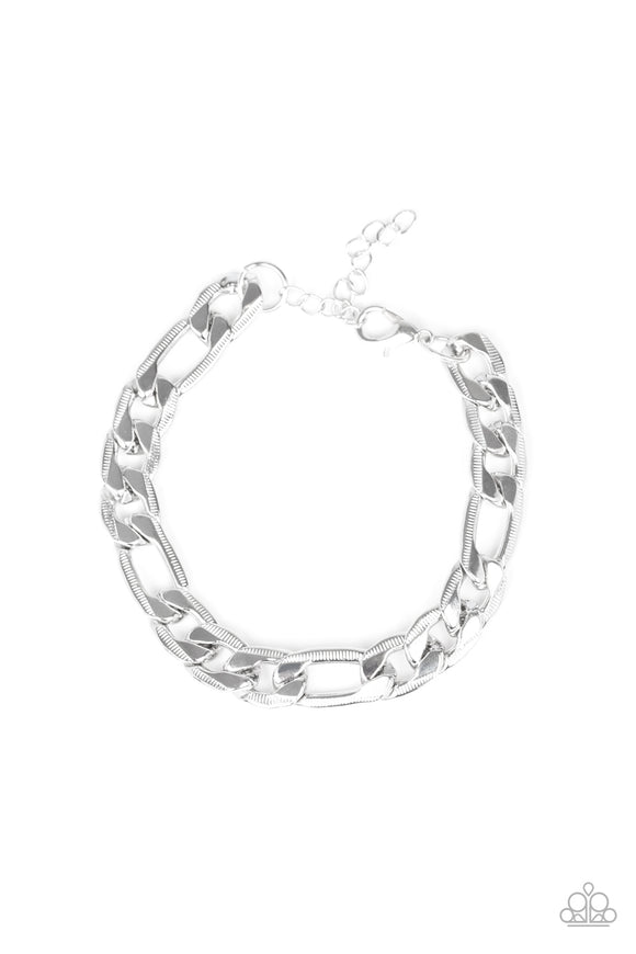Paparazzi Home Team - Silver - Bold Chain - Bracelet - Men's Collection